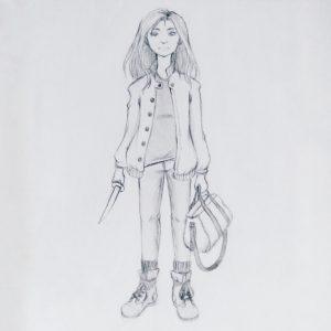 Warrior girl - pencil