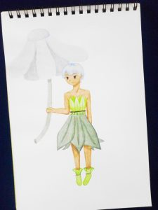 Fairy Umbrella Girl Drawing - Plethoric Thoughts