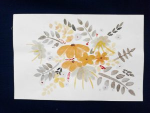 Autumn Flower Bunch Drawing - Plethoric Thoughts