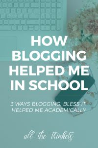 How Blogging Helped Me Grow Academically   It's funny how I partially use blogging to escape my academic woes. And blogging, bless it, helped me grow and improve some skills that are useful in school.