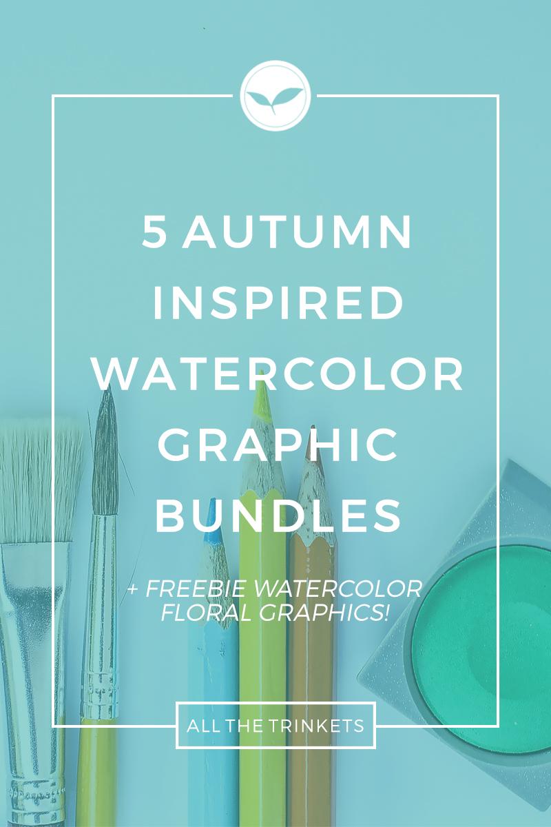 Autumn Watercolor Graphic Bundles