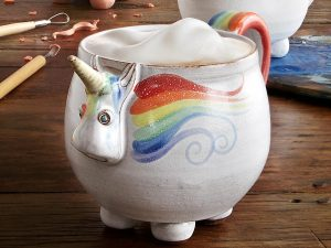 Elwood the Rainbow Unicorn mug from UncommonGoods