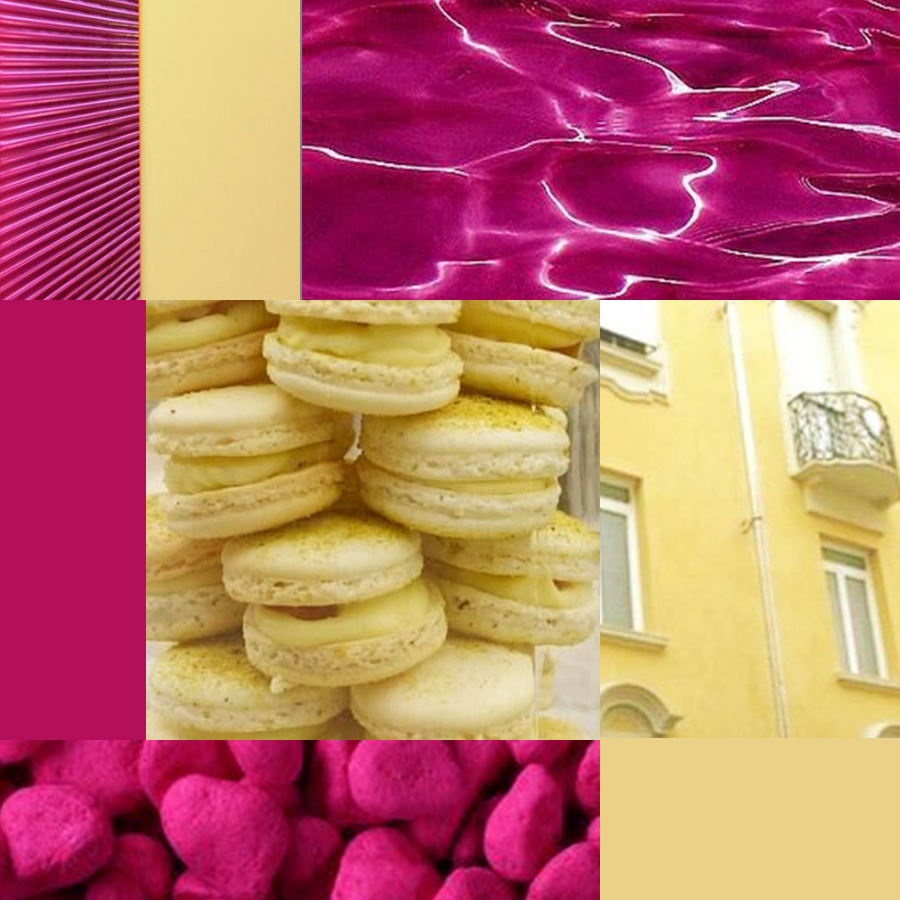 magenta and canary yellow - 5 color pairs I'm loving right now