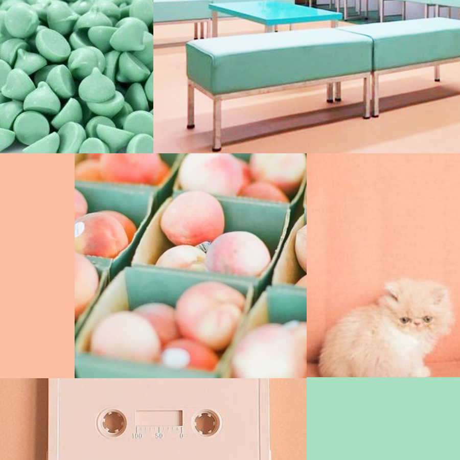mint and peach - 5 color pairs I'm loving right now
