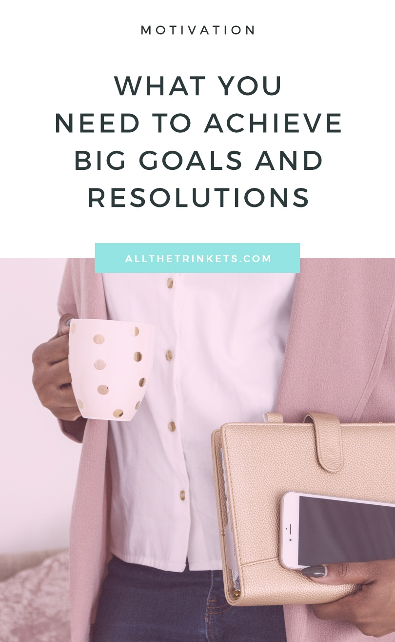 There is a fine line between setting big goals and resolutions, and achieving those same big goals and resolutions. And that fine line is incredibly important:  Action. You need to take one specific action in a certain way: Start smart.And how does one start smart, pray tell, Kate?  Oh, I'm so glad you asked. Through small things.