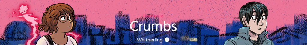 """Banner with text, """"Romance, Crumbs by Whitherling."""""""